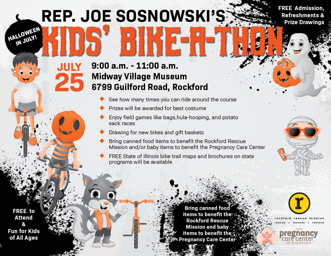 Halloween 2020 July Updates Kids' Bike A Thon offered at Midway Village on July 25